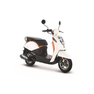 SCOOTER SYM MIO 50 I BLANC/ORANGE E4