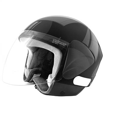 CASQUE JET TNT APOLLO NOIR BRILLANT L