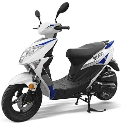 "SCOOTER TNT MOTOR BOSTON 4 TEMPS 50cc 12"""" BLANC/BLEU E4"